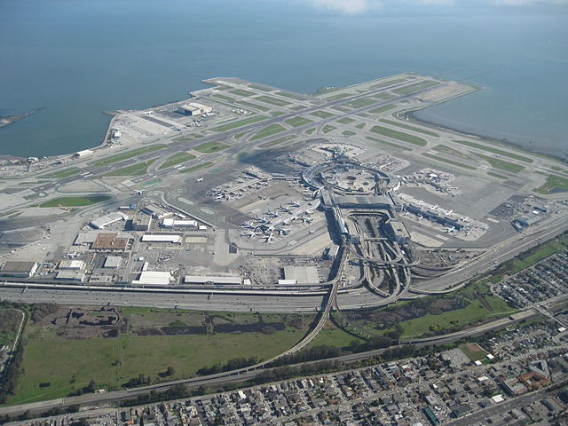 erial view of San Francisco International Airport 2010